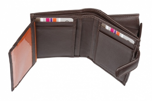 Brown Mala Leather Origin Small Tab Mens Wallet
